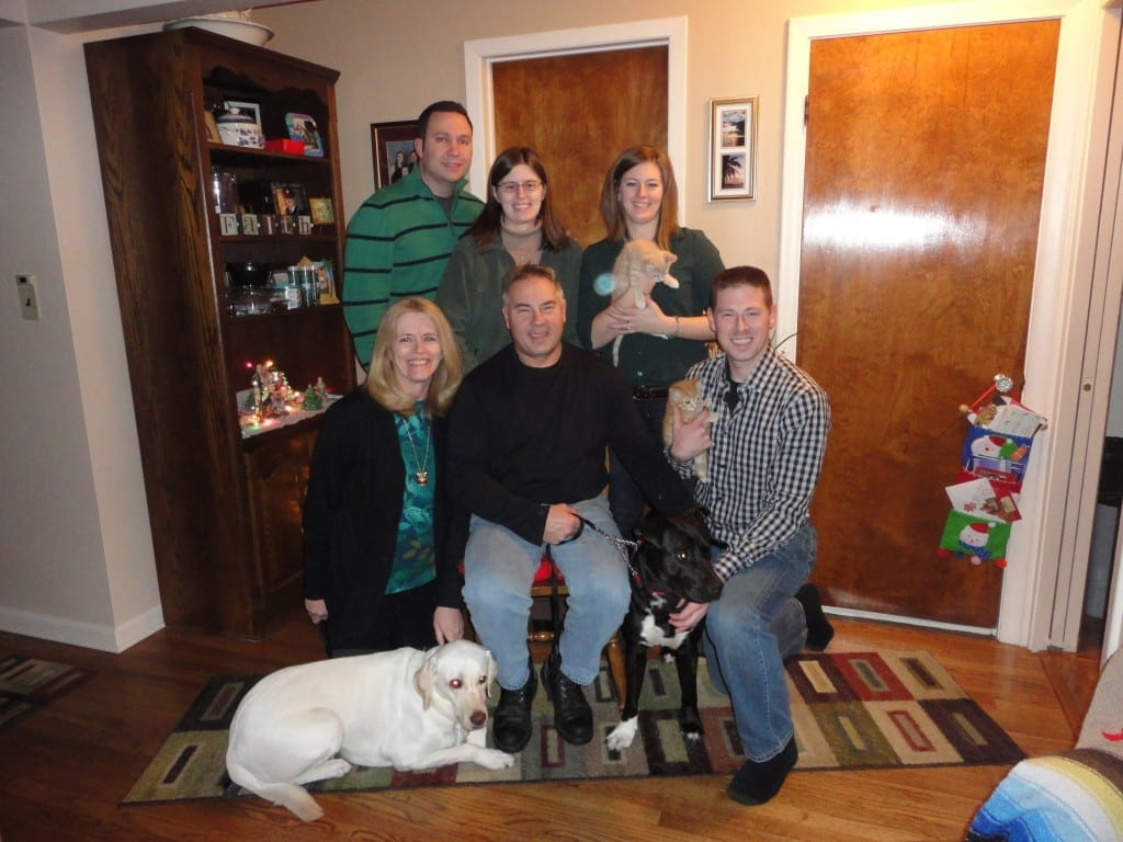 The Piltaver Family Christmas with new members Tips, Tiny, Tank and Sweetie
