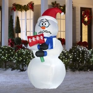 Animated Inflatable Snowman