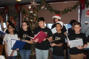 Hester Junior High School Choir performs for Chamber By O'Hare Christmas Gathering